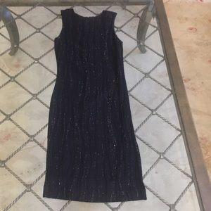 Versus Gianni Versace black shimmer cocktail dress